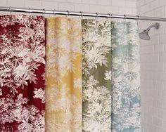 Floral Toile Shower Curtain Celery Decor Ideas Pinterest