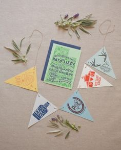 Bunting Invitation On Pinterest Chalkboard Invitation