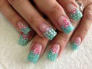 shabby chic nails nail art