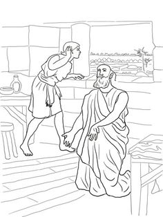 Elisha and the Invisible Angel Army Coloring page. Jehovah