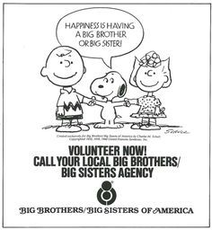 Volunteer to be a big brother or sister at