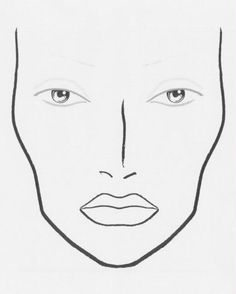 1000+ images about BLANK FACE CHARTS on Pinterest