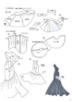 retro tutorials for doll dresses, use google translator.