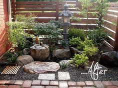 Small Japanese Courtyard Garden Gardens Livings And Rock On