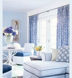 1000 Images About Blue And White Curtains On Pinterest Blue And White Curtains Curtains And