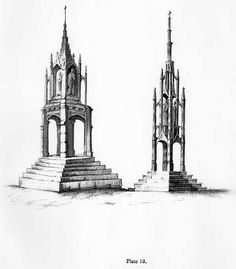 Essay on Gothic Architecture, by John Henry Hopkins (1836) The figure in the plate, marked No