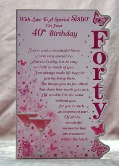 NOW Back In Stock 40th Daughter Birthday Card Top Selling