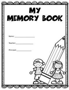 End of the Year Memory Book: My Adventures in Preschool