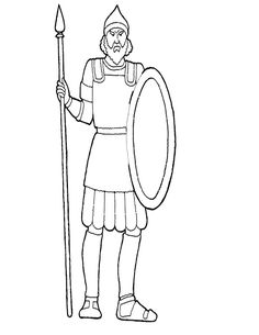 David and goliath, Coloring sheets and David on Pinterest