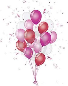 transparent bunch balloons clipart