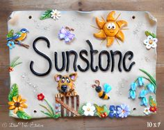 This Beautifully Whimsical Hand Made Ceramic House Sign Is A