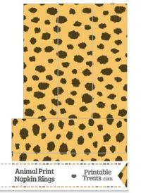 Cheetah Print Name Tags from PrintableTreats.com | Jungle ...