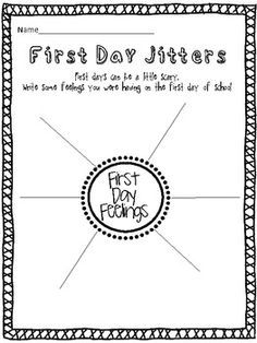 FREEBIE! This First Day Jitters activity is included in my