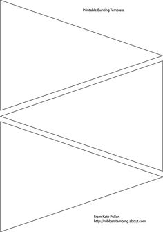 Square bunting pattern. Use the printable outline for