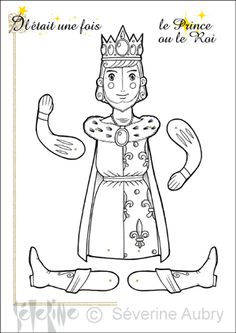 Coloriage d'une marionnette articulée, la fée, page 4 sur