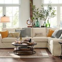 Sectional Sofas With Removable Slipcovers Red Sofa Sleeper 1000+ Ideas About Pottery Barn On Pinterest | ...