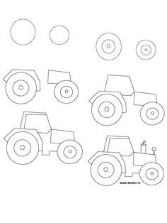 my little guy is always asking me to draw him tractors