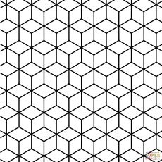 Honeycomb pattern. Use the printable outline for crafts