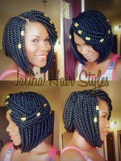 Beautiful Box Braids Bob Hairstyles Pinterest Follow Me
