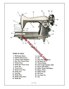 Kenmore Rotary Sewing Machine Manual. Covers model 126781