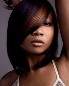 Flat Ironed Natural Hair Colyd1 Hair Crush Pinterest Bobs