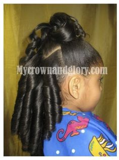 Natural Hair Blow Out And Silk Press With Hairbow Ponytail