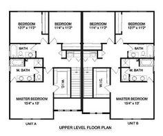 Duplex Plan 1196 Floor Plan House Plans Pinterest Br 2! And