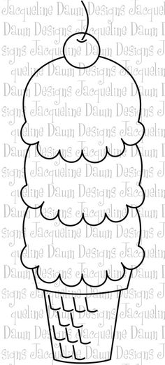 cherry ice cream cone printable and coloring picture