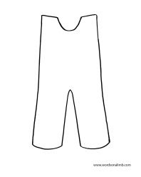Snowsuit Template Coloring Pages