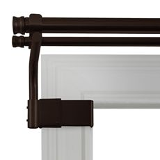 Smart Rods' No Drill Curtain Rods They Hook On Window Molding I