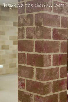 dorm room chair frank lloyd wright faux brick floors on pinterest | brick, bricks and painted