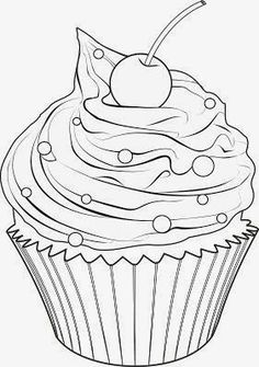5 Best Images of Printable Birthday Cupcake Outlines