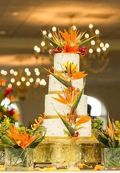 Birds of paradise simple centerpiece add some large