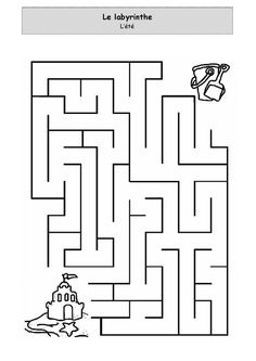 printable robot maze : Printables for Kids