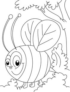 1000+ images about bee coloring pages on Pinterest