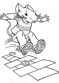 Stuart little, Coloring and Movie in the park on Pinterest