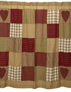 1000 images about Quilted Shower Curtains on Pinterest  Shower curtains Quilt and Shabby chic
