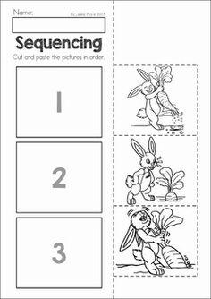 Cut And Paste Sequencing Worksheets Kindergarten