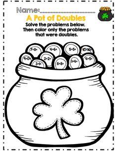 Long vowel vs Short vowel St. Patrick's Day worksheets