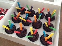 Laser Tag Cupcakes I Made This Pinterest Tags And