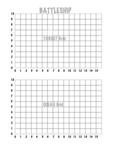 Printable Battleship game (and other printables). Would