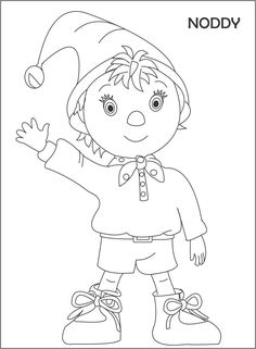 Goblins from Noddy coloring pages for kids, printable free