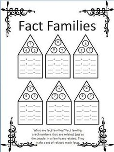 1000+ images about Fact Families/Missing Addend/Open-Ended