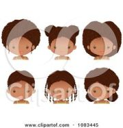 afro puff silhouette puffs