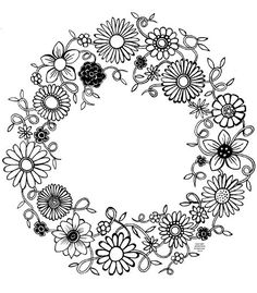 1000+ images about Coloring: Wreaths on Pinterest