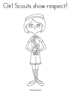 The following website has a printable Daisy scout coloring