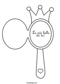 Hand Held Mirror Coloring Page Coloring Pages