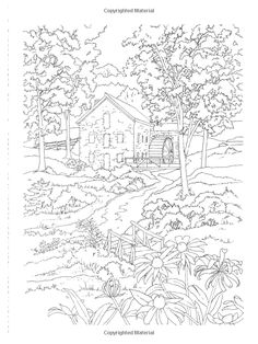1000+ images about Coloring-Landscapes/Houses on Pinterest