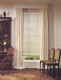 Curtains And Venetian Blinds Together Decorate Our Home With