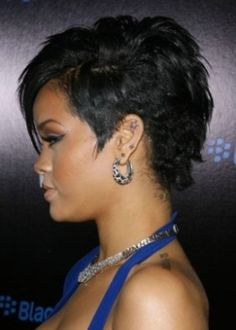 Get Rihanna's Curly Mohawk Hairstyle For Me Physical